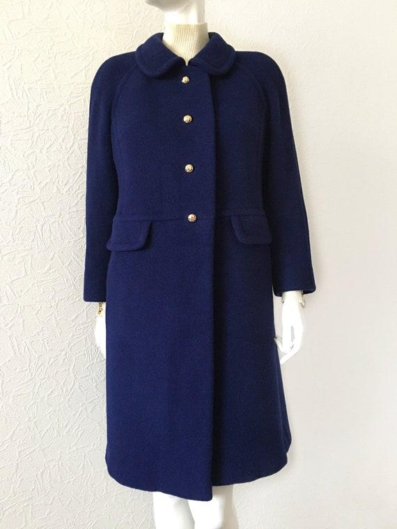 Vintage 1970S Valentino Blue Wool Coat, Valentino