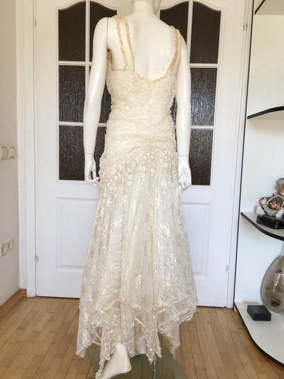 Rare CAROLE LEE Victorian Wedding Gown, Antique L… - image 5