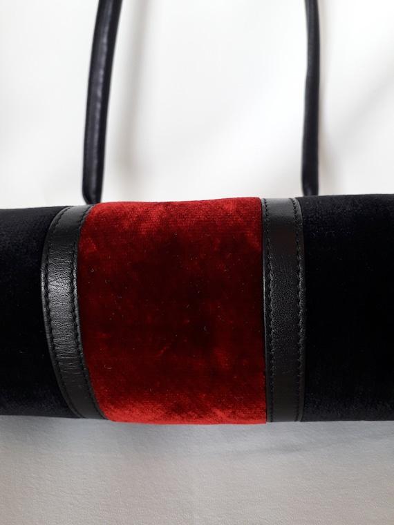 80s Roberta Di Camerino vintage bag - Black red v… - image 8