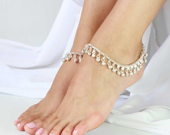 Gypsy Indian Bell Charm Ankle Bracelet Anklet foot Chain Belly Dance Beach