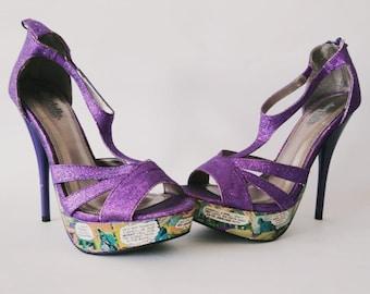 985c28bda Batman Comic Vibrant US Size 7 High Heels