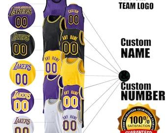 e8a316fc356 Lakers Personalized Swingman Custom Number   Name Men s Jersey Colors  Available