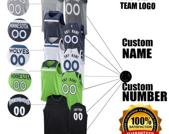 f68538cb5 Timberwolves Personalized Swingman Custom Number   Name Men s Jersey Colors  Available