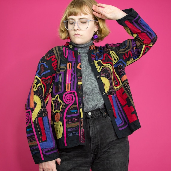 Rainbow Patchwork Jacket