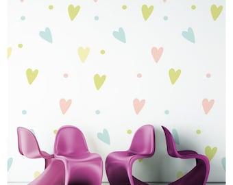 Nursery Wallpaper Girl Etsy