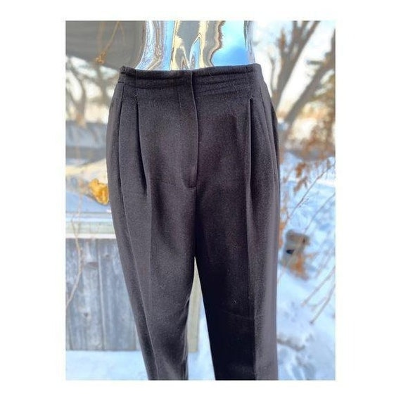 Vintage 70s Virgin Wool Trousers Pants Pleat Front
