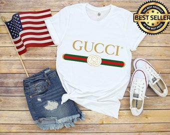 1608b5c35ca6 Unisex Gucci Shirt, Gucci Gift, Gucci Logo, Gucci White T-Shirt, Gucci,  Vintage Gucci, Gucci Hoodie, Women Gucci