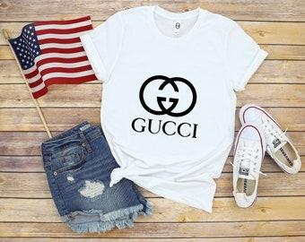 b792f3c65bcc Unisex Gucci Shirt, Gucci Gift, Gucci Logo, Gucci White T-Shirt, Gucci,  Vintage Gucci, Gucci Hoodie, Women Gucci