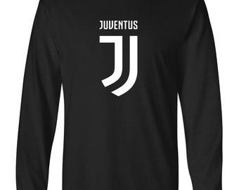 2d941cb2220 Mannen Juventus logo voetbal T-shirt met lange mouwen