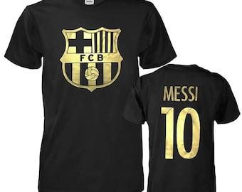 4ffd011735e FC Barcelona Soccer Lionel Messi #10 Shirt Futbol Jersey Men T-Shirt