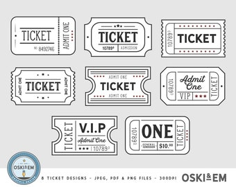 photo regarding Printable Tickets With Stubs referred to as Video clip ticket stub Etsy