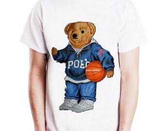 b0f47b8a1 Polo Bear Shirt Style Streetwear | Polo Bear Vintage Men's White T-Shirt  Gift