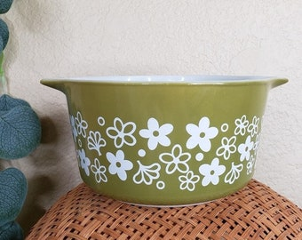 Vintage Round Casserole 1 Quart 473-B Pyrex Forest Fancies Made in The USA #4214