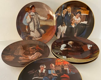 Details about  /Norman Rockwell Collector Plates Knowles Fine China Heritage Series