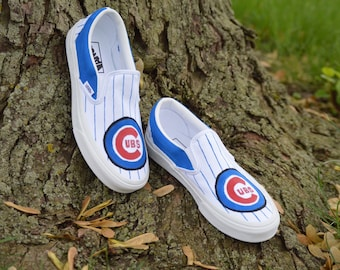 47fe996e317 Custom Hand Painted Shoes-Chicago Cubs