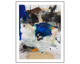 small abstract painting on paper from Danielle Lauzon - acrylic and collage