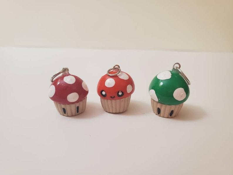Mushroom Cupcake Charms