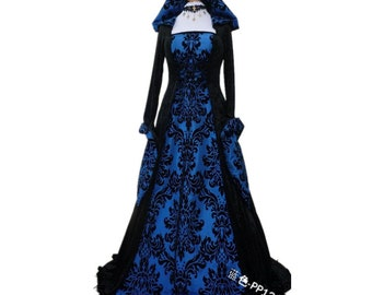 Halloween Costume Wicca Witch Medieval Dress Women Adult Plus Size Scary Cosplay Gothic New Wizard Halloween Costumes for Women