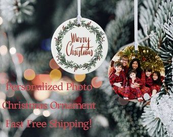 Personalized Photo Christmas Ornament |  Customized Christmas Ornament | Christmas Tree Ornament | Christmas Ornament | Photo Ornament
