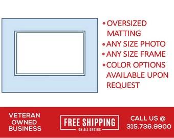 Large Custom Matting for Frame | Single Mat | Double Mat | Frame Matboard | Large Frame Matboard | Oversize Matboard