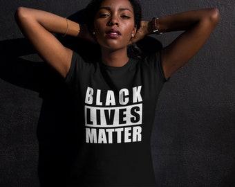 Black Lives Matter T-Shirt | Women's T shirt | 100% Cotton T-shirt | BLM Shirt