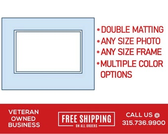 Double Matting | Custom Size Matting for Frame | Double Mat | Mat for Frame | Frame Matboard