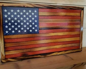 Rustic wood flag