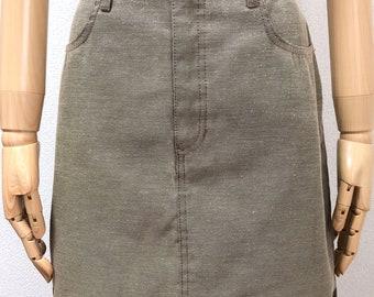 292b14fc58 Vintage Authentic FENDI Jeans Logo Line Skirt Size I44 30inches