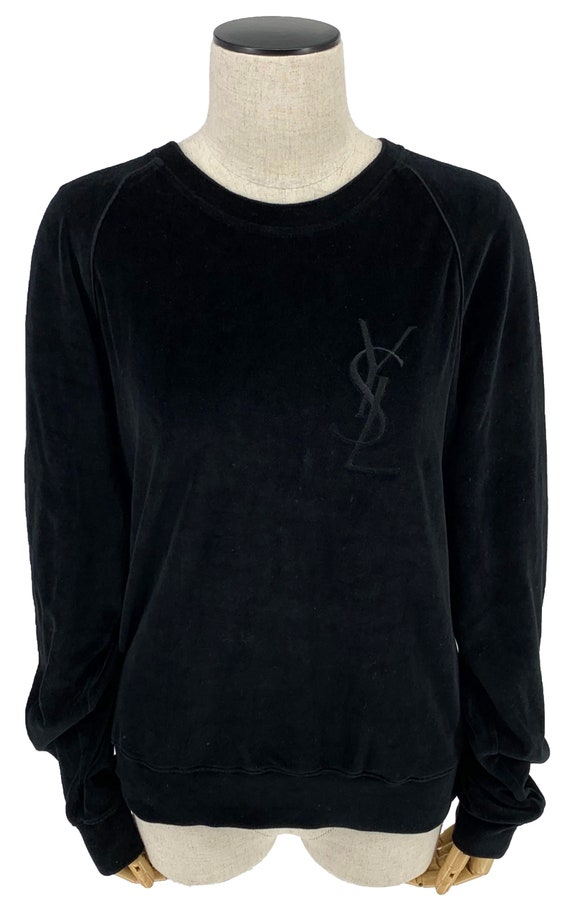 Auth YVES SAINT LAURENT Vintage Sweatshirt Velour
