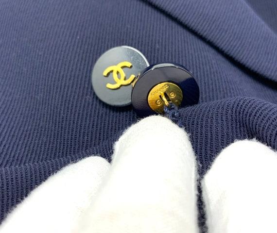 Authentic CHANEL Vintage 90's Gold CC Button Doub… - image 6
