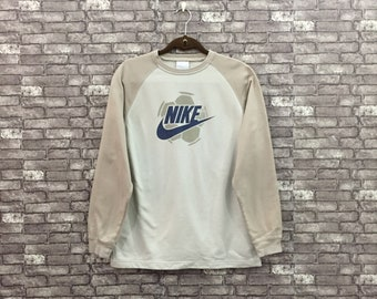 ac069e24 Vintage Nike Spell Out Big Logo Sweatshirt Crew Neck Nike Jumper Pullover  Large Kids