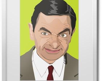 Mr Bean Rowan Atkinson Comedy Fun Weird Giant Wall Art Poster Print