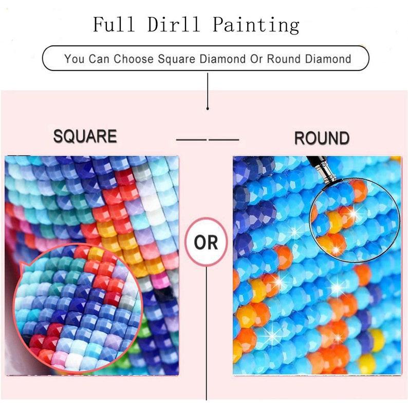 5D Diy Diamond Painting Cross Stitch Full Square Round Drill Dog Pet Diamond Embroidery Kit Wall Stickers