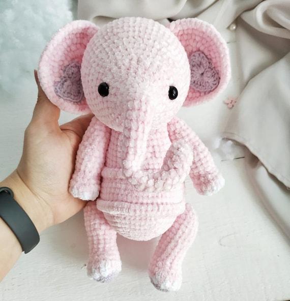 Crochet Elephant Pink Elephant Amigurumi Elephant   Etsy   592x570