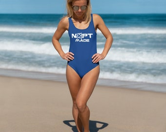 NXPT Made BLUE One-Sided Front Only One-Piece Swimsuit