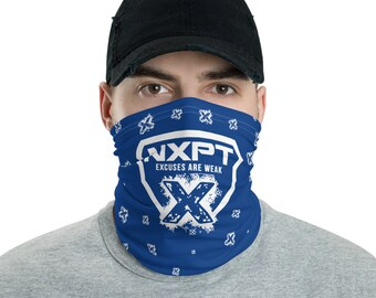 NXPT White Badge X BLUE Neck Gaiter