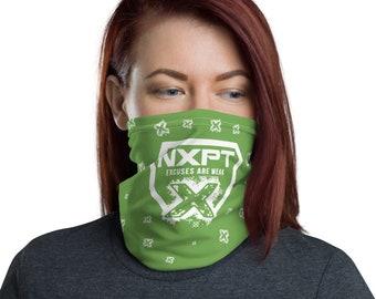 NXPT White Badge X GREEN Neck Gaiter