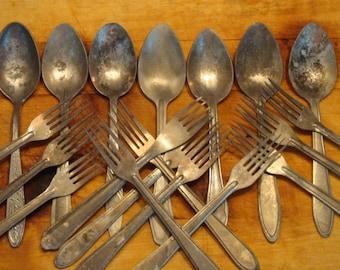 Spoon Aluminium USSR Cold War Era VINTAGE  Soviet Russian 6 PCs as in Chernobyl
