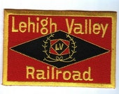 Railroad 100 Embroidered Patch Collectible - Lehigh Valley Railroad 4 quot X 2 5 8 quot