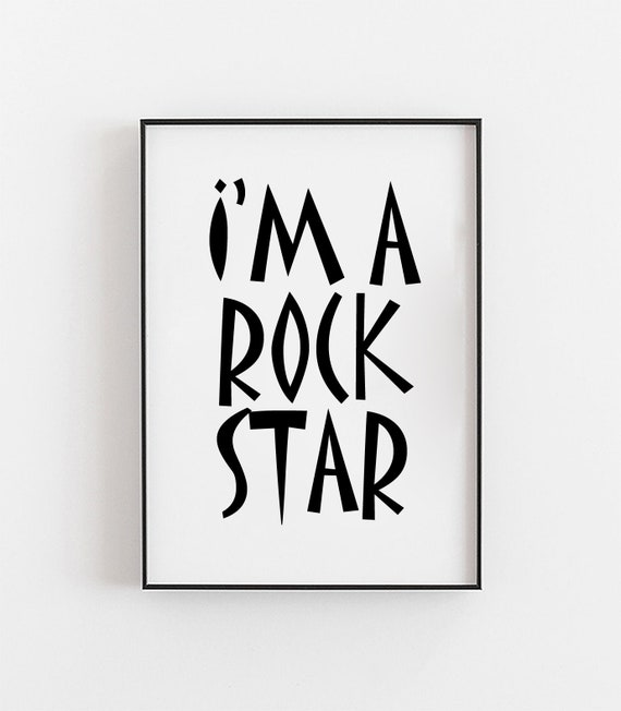 Im A Rockstar Print, Poster, Fun Baby Gifts, Cool Baby Gift, Baby Prints For Nursery, Baby Boy Prints, Kids Music Art, Prints For Baby Boy