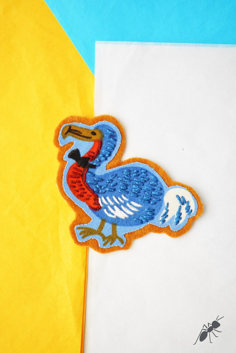 Iron on patch Animal patches for kids Alice in Wonderland embroidery patch Handmade embroidery patches for jackets Dodo