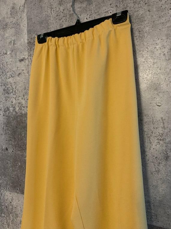 Vintage Elastic Waist Tangerine Stretch Knit Pant… - image 3