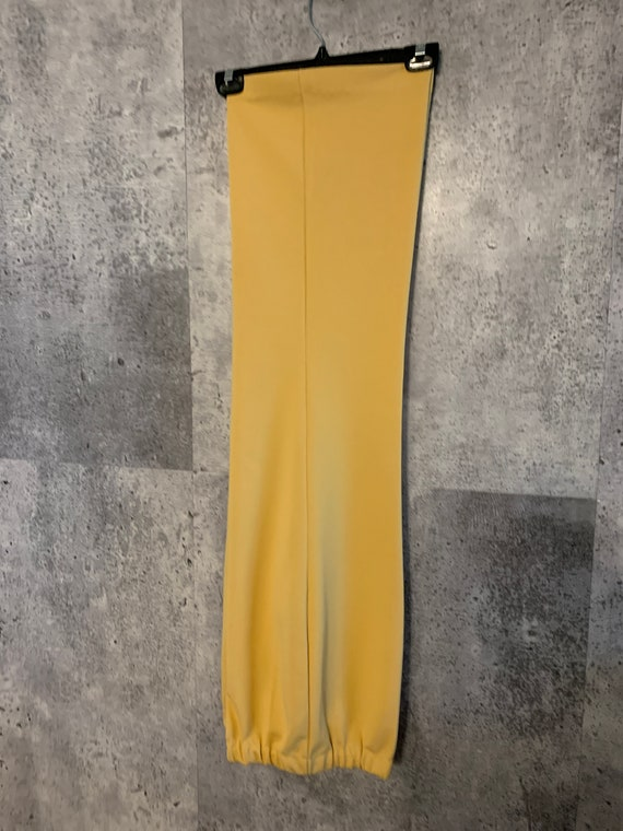 Vintage Elastic Waist Tangerine Stretch Knit Pant… - image 4