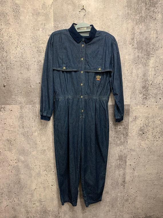 Vintage Denim Jumpsuit/Seasons Sport/Tapered Leg/U