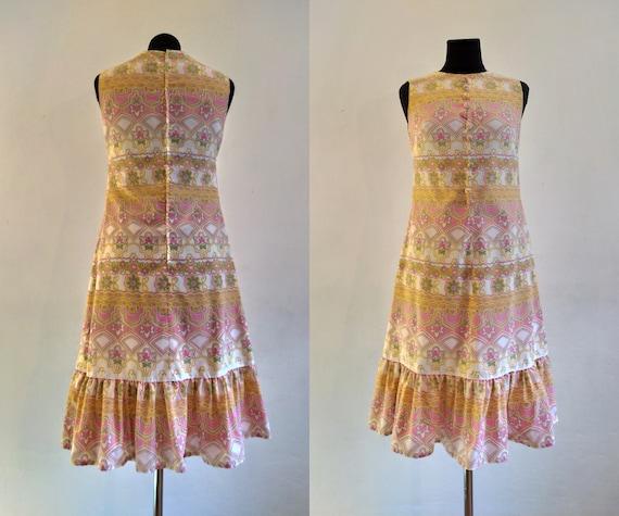 "Vintage 60s/70s ""SAMBO"" Midi Dress | Pastel Cotton"
