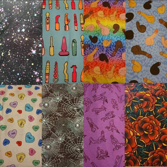 Handmade OOAK Galaxy Print BraletteCrop Top 36-38CD ~ Cute alternative space lingerie cotton lycra fabric festivals