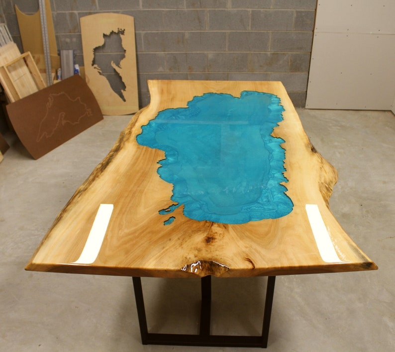 Custom Epoxy Resin River Table  Design your own River Table Initial Deposit inches