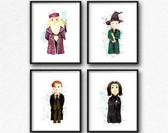 Harry Potter Kinderzimmer Wand Kunst Set Harry Potter | Etsy
