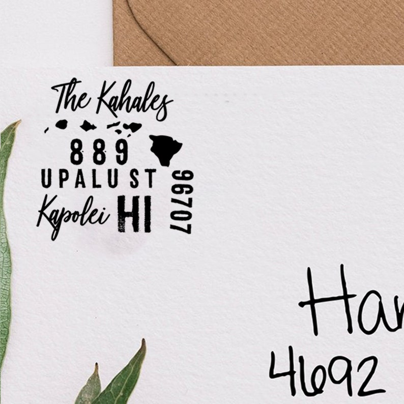 Personalized Self Inking State Stamp Hawaii Custom Hawaii Return Address Stamp