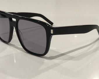 4194dddc4d Saint Laurent SL 87 Black large rectangular Sunglasses